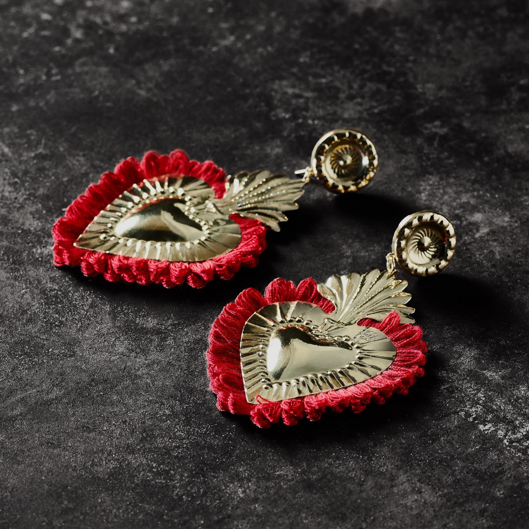 0cf9b5189a6649 La Dolce Vita. Heart-shaped dangle earrings ...
