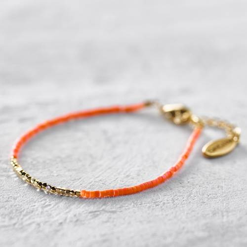 Beads bracelet. Tequila sunrise