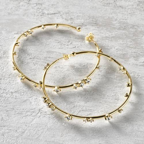 Hoop earrings. For a good look!