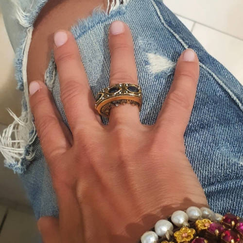 Something Beautiful with Sapphires. A big ring