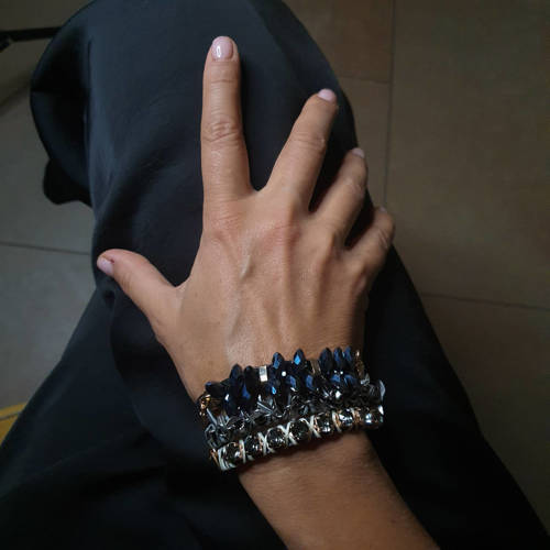 The queen of downtown. Leather bracelet