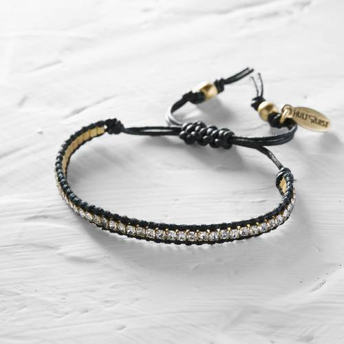Tulon. Black bracelet with beads