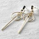 Café de Flore. Geometric dangle earrings